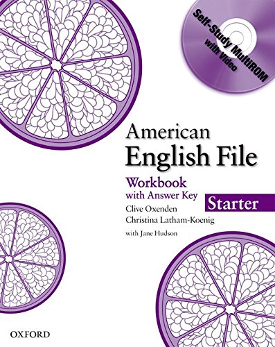 9780194774024: American English File Starter: Workbook with MultiROM (American English File First Edition)