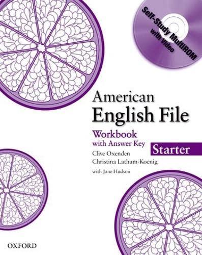 9780194774024: American English File Starter Workbook with MultiROM
