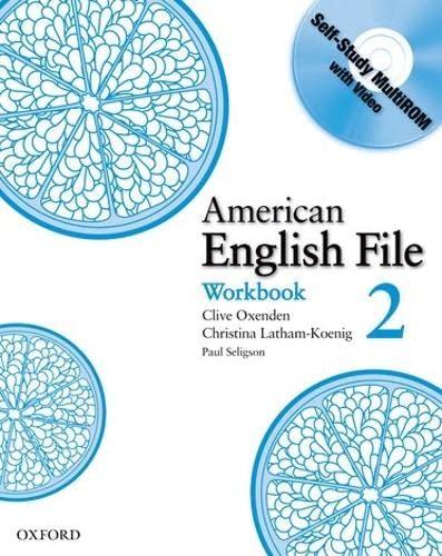 9780194774345: American English File 2 Workbook: with Multi-ROM