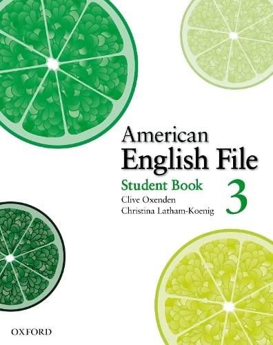 9780194774482: American English File 3 Student Book