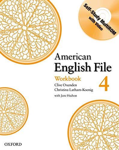 9780194774666: American English File Level 4: Workbook with Multi-ROM Pack (American English File First Edition)