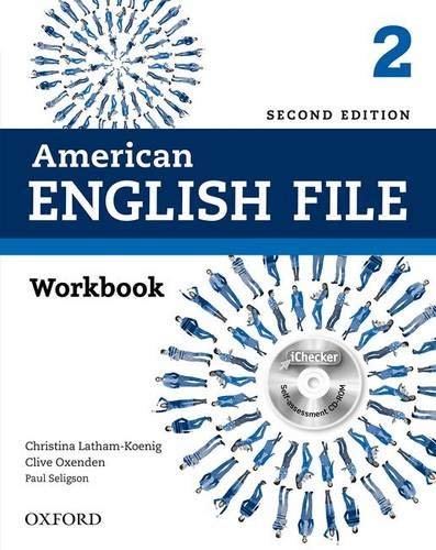 9780194776400: American English File Second Edition: Level 2 Workbook: With iChecker