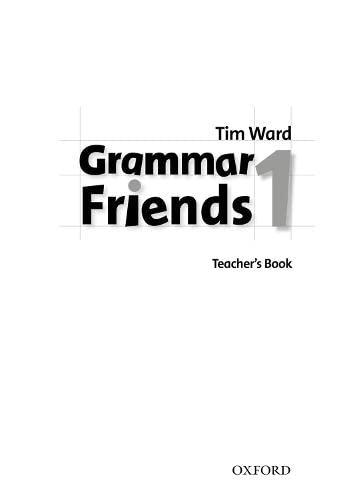 9780194780063: Grammar Friends 1: Teacher's Book