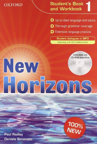 9780194795258: New horizons. Student's book-Workbook-Homework book. Con espansione online. Per le Scuole superiori. Con CD Audio. Con CD-ROM: 1