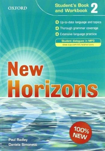 9780194795265: New horizons. Student's book-Workbook-Homework book. Con espansione online. Con CD Audio. Per le Scuole superiori: 2