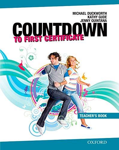 9780194801065: Countdown to First Certificate: Teacher's Book