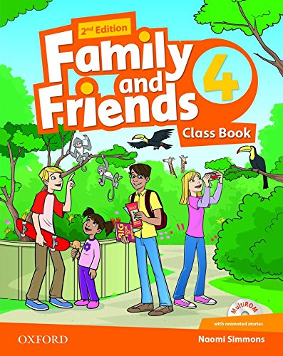 9780194808323: Family and Friends: Level 4: Class Book and MultiROM Pack