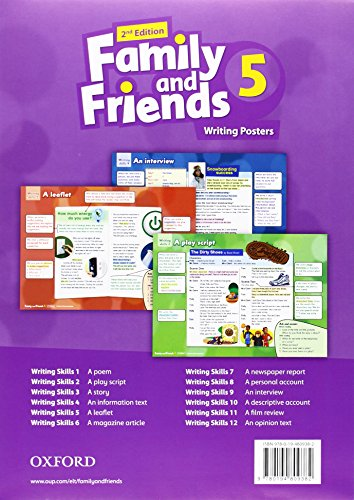 Family and Friends: Level 5: Writing Posters