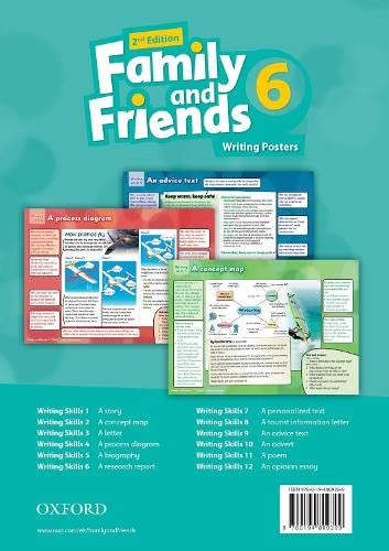 Family and Friends: Level 6: Writing Posters: Varios Autores