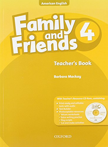 9780194814027: Family and Friends American Edition: 4: Teacher's Book & CD-ROM Pack