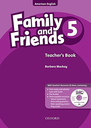 9780194814034: Family and Friends American Edition: 5: Teacher's Book & CD-ROM Pack