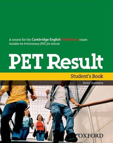 9780194817158: PET Result: Student's Book by Jenny Quintana (2010-03-25)