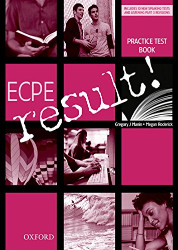 ECPE Result!: Practice Tests and CD Pack: Gregory Manin