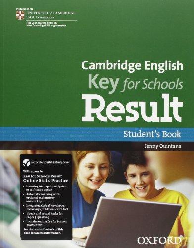 9780194817639: Cambridge English. Key for schools result. Student's book-Workbook. With key. Per le Scuole superiori. Con Multi-ROM. Con espansione online