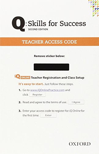 9780194818001: Q Skills for Success: Teacher iQ Online Access Card