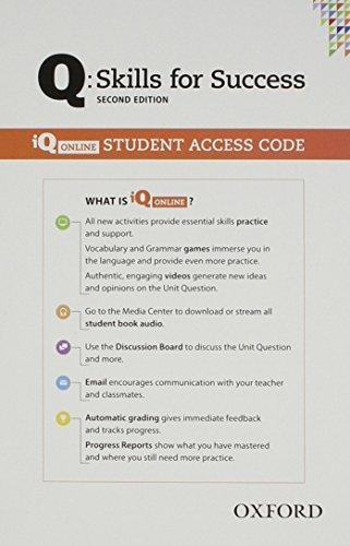 9780194818032: Q: Skills for Success: Practice Book