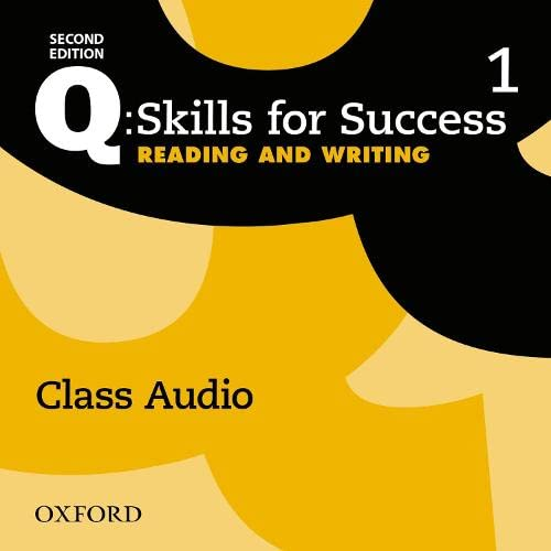 Q: Skills for Success: Level 1: Reading Writing Class Audio CD (x2)