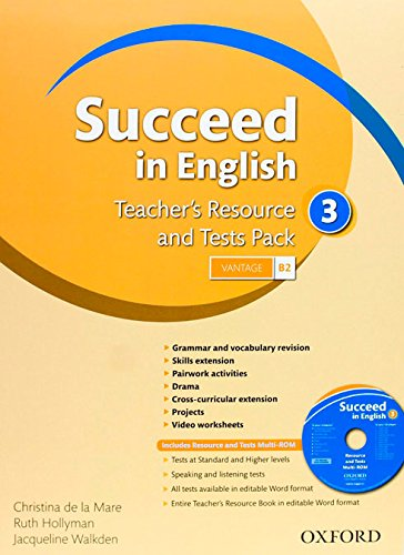 9780194844178: SUCCEED IN ENGLISH 3 TR & TEST PK