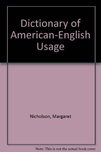 9780195000399: Dictionary of American-English Usage