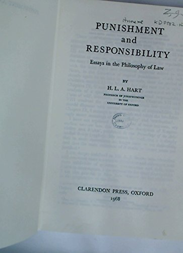 9780195001624: PUNISHMENT AND RESPONSIBILITY: ESSAYS IN THE PHILOSOPHY OF LAW