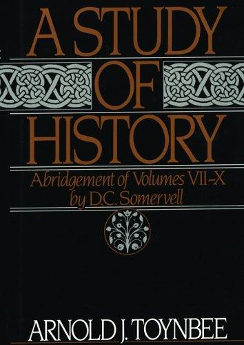 9780195001990: A Study of History Abridgement Volumes VII-X