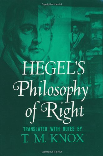 9780195002768: Hegel's Philosophy of Right (Galaxy Books)