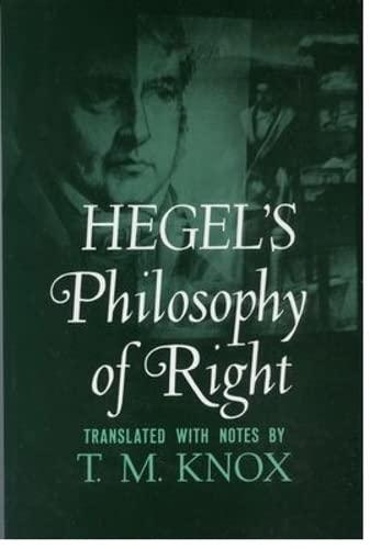 9780195002768: Hegel's Philosophy of Right