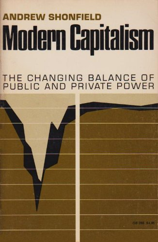 Modern Capitalism : The Changing Balance of: Shonfield, Andrew