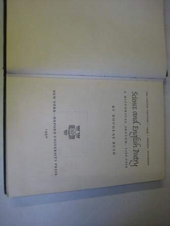 Science and English Poetry: A Historical Sketch, 1590-1950: Bush, Douglas