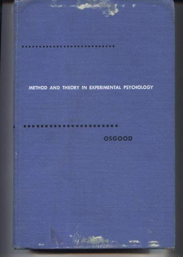 Method and theory in experimental psychology: Osgood, Charles Egerton