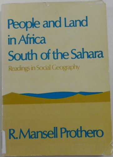 9780195012873: People and Land in Africa South of the Sahara (Readings in Social Geography)