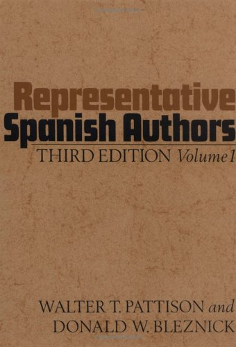 9780195013269: Representative Spanish Authors: Volume I