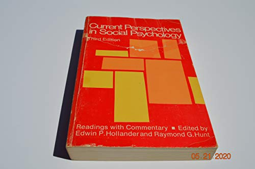 9780195013856: Current Perspectives in Social Psychology: Readings with Commentary