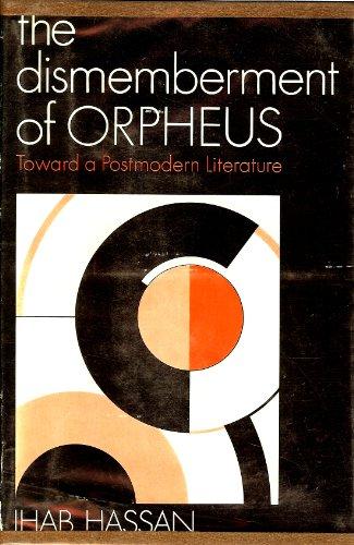 9780195013931: Testament of Orpheus: Toward a Post-modern Literature