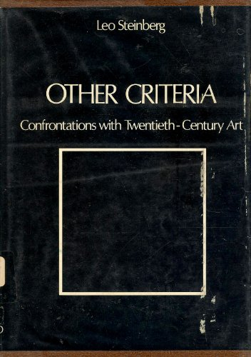 9780195015775: Other Criteria: Confrontations with Twentieth-Century Art