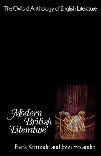 9780195016529: The Oxford Anthology of English Literature: Volume VI: Modern British Literature
