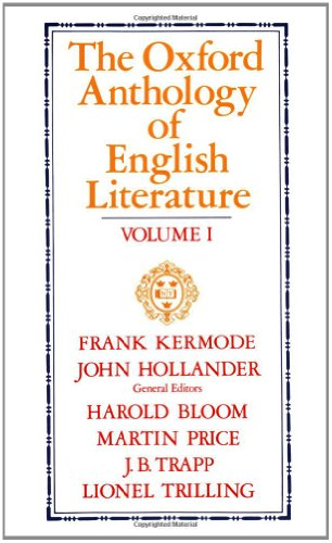 9780195016574: The Oxford Anthology of English Literature. Vols. 1-3 in one volume: 001