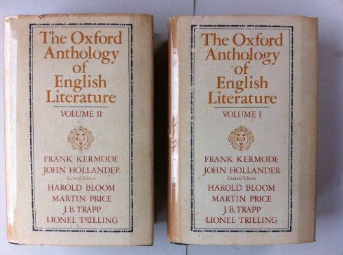 The Oxford Anthology of English Literature: John Hollander; Martin
