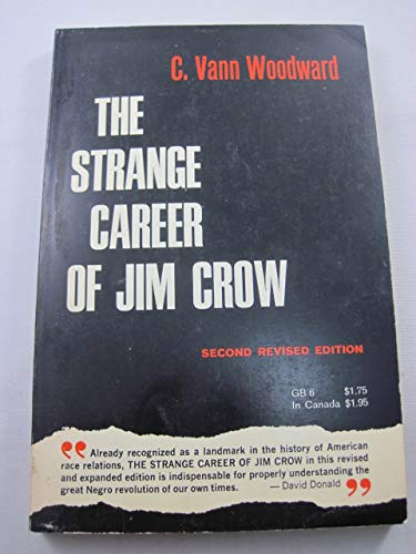 an analysis of the strange career of jim crow by c vann woodward The strange career of jim crow / edition 3 c vann woodward, who died in 1999 at the age of 91, was america's most eminent southern historian, the winner of a pulitzer prize for mary chestnut's civil war and a bancroft prize for the origins of the new south.