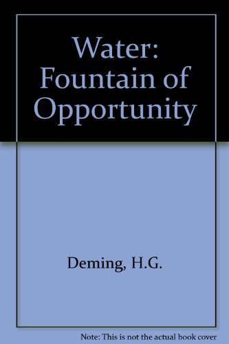 9780195018417: Water: The Fountain of Opportunity