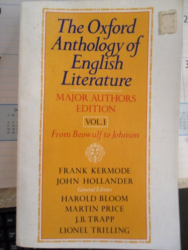 9780195019001: The Oxford Anthology of English Literature: Major Authors Edition: 001