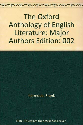 9780195019018: The Oxford Anthology of English Literature: Major Authors Edition: 002
