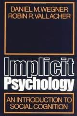 9780195022285: Implicit Psychology: An Introduction to Social Cognition