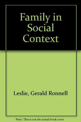 9780195024234: Family in Social Context