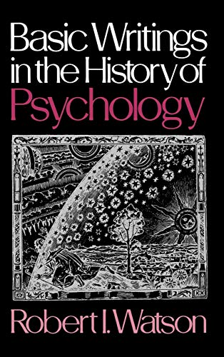 9780195024432: Basic Writings in the History of Psychology