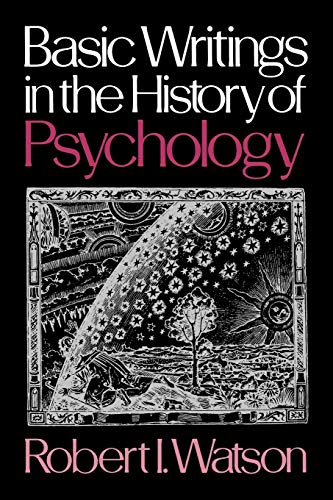 9780195024449: Basic Writings in the History of Psychology
