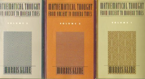 9780195024661: Mathematical Thought from Ancient to Modern Times (3 Volume Set) (Vols 1-3)