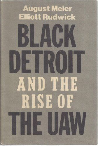 9780195025613: Black Detroit and the Rise of the UAW