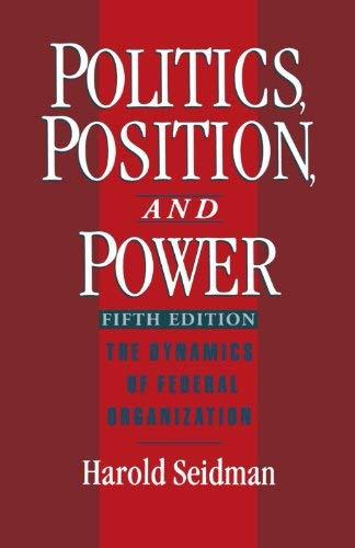 9780195026597: Politics, Position and Power 3/E