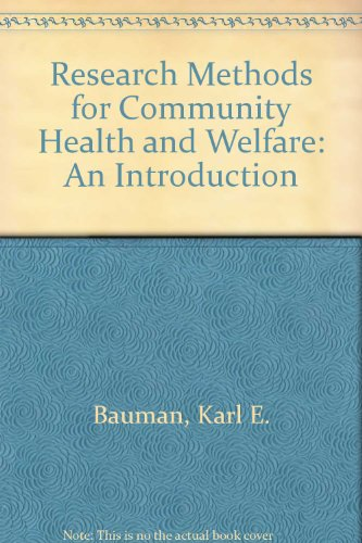 9780195026986: Research Methods for Community Health and Welfare: An Introduction